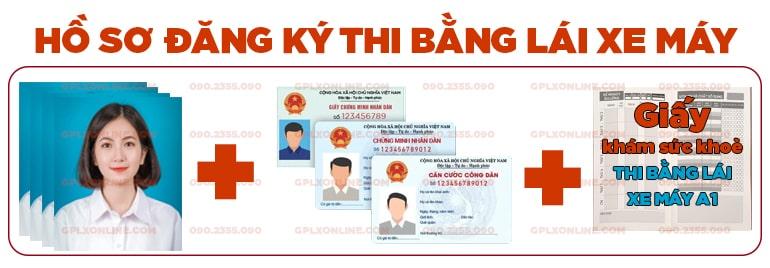 hồ sơ đăng ký thi bằng lái xe máy